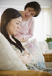 Japanese mother worrying about daughter