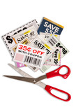 Many Coupons With Scissors XXXL Vertical Shot