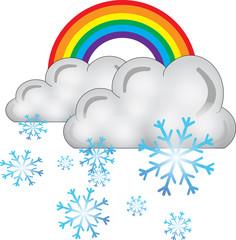 arcobaleno nuvola neve - icone meteo