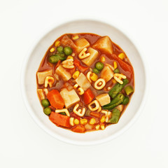Bowl of alphabet soup