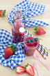 Homemade smoothies with fresh berries