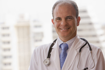 Smiling Chilean doctor