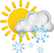 sole nuvola neve - icone meteo