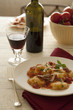 Ravioli in tomato sauce and red wine