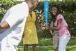 African American Family Playing Baseball