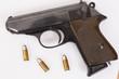 Leinwanddruck Bild - pistole,echt,waffe