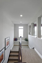 Modern hallway and staircase in house