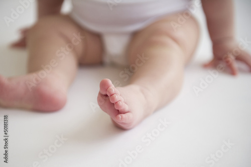 Asian baby girl's feet