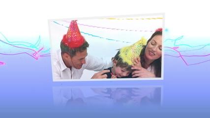 Birthday celebrations montage