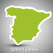 Spain map sticker