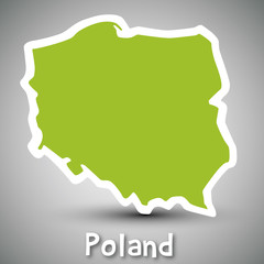 Poland map sticker