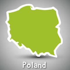 Poland map sticker