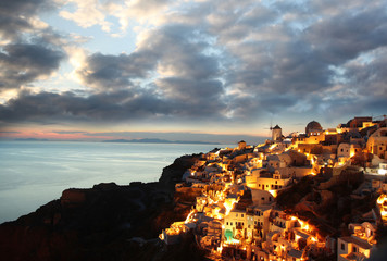 Santorini in the evening, Greece