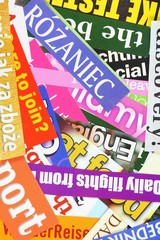 Newspapers - colorful headline background
