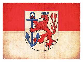 Grunge-Flagge Düsseldorf (Nordrhein-Westfalen, Deutschland)