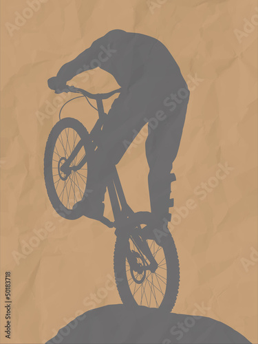 illustration of a bmx driver