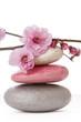 canvas print picture - fleurs zen