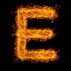 Flaming Letter E