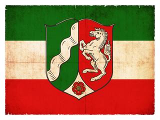 Grunge-Flagge Nordrhein-Westfalen (Deutschland)