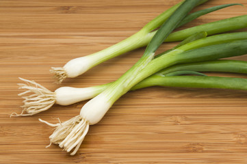 Three green onions
