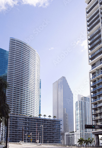 Highrise buildings in urban city