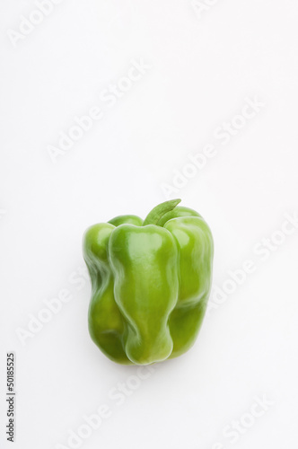 Single green bell pepper