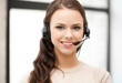 friendly female helpline operator