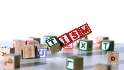 Blocks spelling autism falling