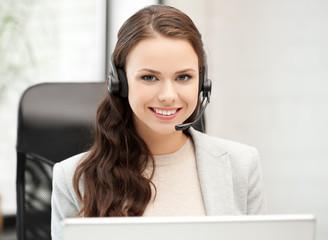 friendly female helpline operator