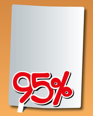 paper with ninety-five percent icon