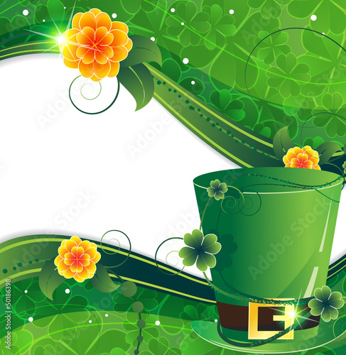 Leprechaun hat with flowers