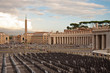 Chairs and Obelisk in Piazza san Pietro - Vatican