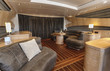 Italy, Alfamarine 78 luxury yacht, dinette