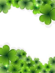 St. Patrick's Day clover frame