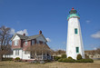 Постер, плакат: The Old Point Comfort lighthouse and keepers quarters at Fort Mo