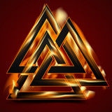 Valknut in flame