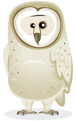 Cartoon Barn Owl Character