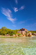 Amazing granite rocky beaches on Seychelles islands