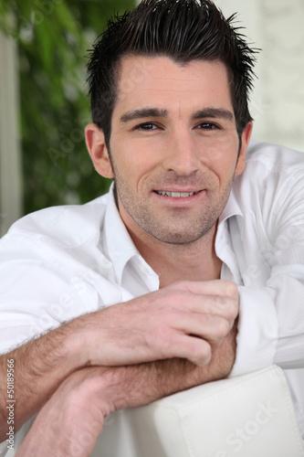 Portrait of a happy man