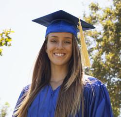 Smiling Caucasian graduate