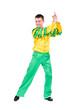 beautiful carnival dancer man posing