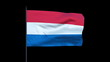 The Netherlands Flag Waving, Seamless Loop