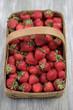 Fresh, red strawberries in basket