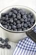 Blueberries in pan