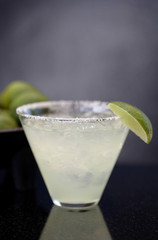 Margarita with salt and lime