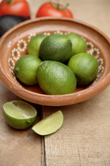 Limes in bowl