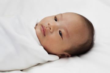 Asian newborn baby