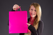 Pretty Teenie with Pink Shopping Bag