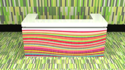funky reception counter