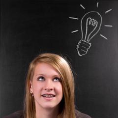 Teenagerin geht Licht auf